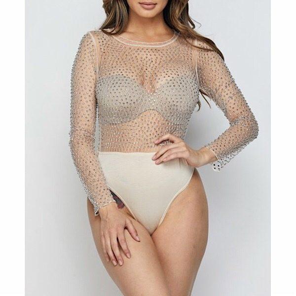 87051e5f0d54 Rhinestone Long Sleeve Fishnet Bodysuit – PinkButterfliBoutique